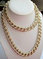 léger collier bijou vintage chaîne couleur or sautoir maille gourmette 3534