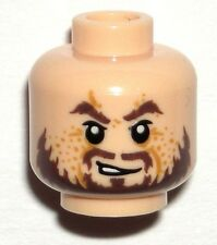 LEGO Light Flesh Minifig HEAD Hector Barbossa Beard Pirates of the Caribbean