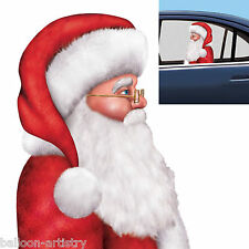 Christmas Backseat Driver SANTA CLAUS Car Window Cling Decoration