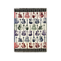 NEW Guitar Throw Blanket Afghan, wall hanging, electric and acoustic USA Made