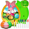 Easter Egg Decorations Kit Painting Dyeing Coloring Toy Machine + Light & Music