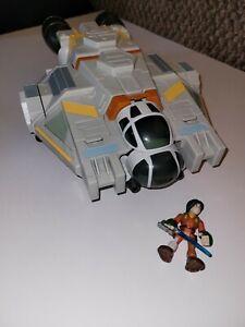 HASBRO Star Wars Rebels Galactic Heroes the GHOST VEHICLE+FIGURE PLAYSET