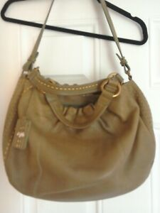 Olive green Radley bag thick leather large size