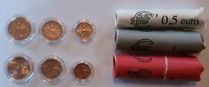 Lot pièces euros centimes Andorre 2017 1-2-5 cts UNC pièces neuves de rouleaux