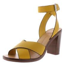 Dolce Vita Womens Nala Yellow Heel Sandals  Shoes 8 Medium (B,M) BHFO 5808