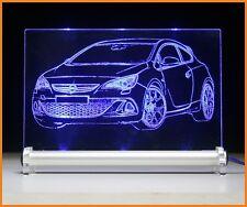 LED-Leuchtschild graviert ist  Opel Astra OPC   AutoGravur