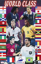 1998 World Cup Team Collage RONALDO,ZIDANE,SHEARER Original Starline Poster OOP