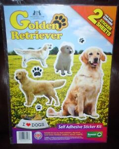 Golden Retriever Dog Stickers Kennel Club