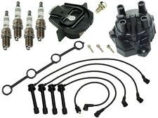 For Ignition KIT YEC Cap Rotor Spark Plugs+Wire Set KA24D for Nissan Altima