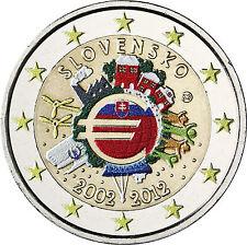 Eslovaquia 2 euro 2012 stgl. 10 años euro-efectivo en color