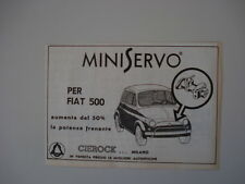 advertising Pubblicità 1972 MINISERVO CIEROCK PER FIAT 500