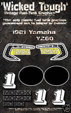 YAMAHA 1981 YZ60 WICKED TOUGH DECAL GRAPHIC KIT