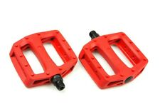 [US SELLER] Wellgo Platform Pedals MTB BMX Road Bike Bicycle Fixed Gear - RED
