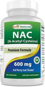 Best Naturals NAC 600 mg 250 Capsules