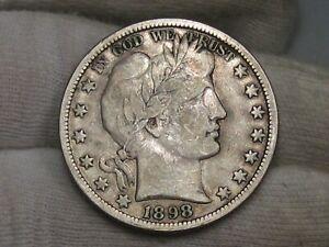 FINE 1898-o Barber Half Dollar. #20