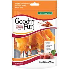 Good'n'Fun Healthy Dog Chew Treats Triple Flavor Wings Premium Beef Chiken Pork