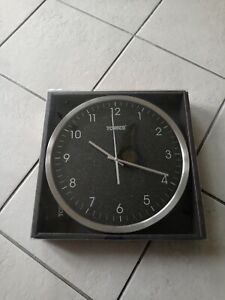 Tower Glitz 30cm Wall Clock Black - Glass Facia