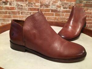 Frye Cognac Brown Leather Elyssa Shootie Ankle Boot 7.5 New
