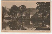 Ansichtskarte Tharandt - Blick auf den Schlossteich und Kirche 1923 schwarz/weiß