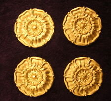 4 DECORATIVE MOULDINGS ANTIQUE GOLD GILT OR WHITE RESIN WALL MIRROR DECORATION