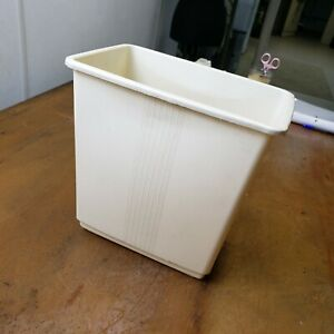 Vintage Max Klein Co. Bathroom Waste Basket Trash Can Cream