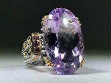 Gems En Vogue 22ct Checkerboard Cut Lavender- Pink Amethyst Ring - Size 6