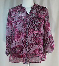 Covington Essentials, Large, Cerise Pink Multi Top/Cami, New with Tags