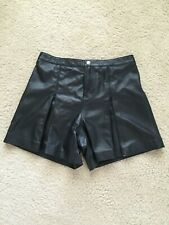 Rebecca Minkoff Mina Soft Leather Black Shorts Size 2 US NWT 498$
