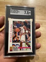 Michael Jordan SGC 7.5 NM 1992 Olympics Team Hoops #341 Last Dance INVEST Hedge