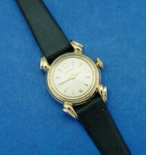 *SERVICED* LADIES' BENRUS 60's  SPORTY **RARE** AWESOME GOTHIC CURVED  LUGS
