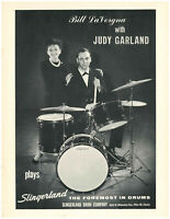 1963 SLINGERLAND DRUMS JUDY GARLAND BILL LAVORGNA PAGE AD