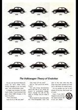 "1963 VOLKSWAGEN VW BEETLE EVOLUTION AD A3 CANVAS PRINT POSTER FRAMED 16.5""x11.7"""