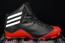 Boys Adidas Shoes Basketball Next Level Size 5.5 Black Red