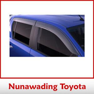 GENUINE TOYOTA NEW HILUX DUAL CAB TINTED SLIMLINE WEATHERSHIELDS SEP 2015 ON