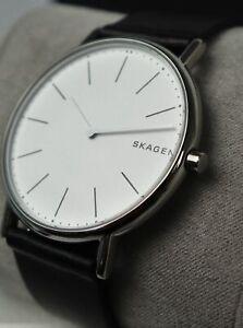 Armbanduhr Skagen Herren Quarz Uhr Lederarmband SKW6419 Dornschließe Schmuck