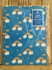 American Greetings Care Bears New Gift Wrap Wrapping Paper Rainbows Vntg 1980s