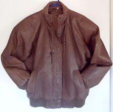 Men's COPPER KEY Brown Leather Zip Front Coat Jacket Sz M