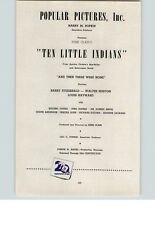 1945 Movies Ad Popular Pictures Inc Ten Little Indians 20th Century Fox Christie