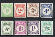 Gilbert and Ellice Islands 1940 Postage Due set to 1s 6d MLH/MH
