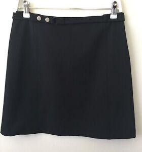 Near New Weekend Maxmara Black Skirt Size 10