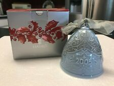 Lladro 2005 Christmas Bell Ornament #01008159 Blue In Original Box