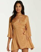 NWT Billabong Juniors Divine Day Wrap Mini Dress Size Large