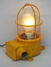 Yellow Maritime Salvaged Passageway Bulkhead Light Wall Mount Lamp Navigation