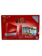 Wii Console Bundle Red Model, 5 Games Plus Extras