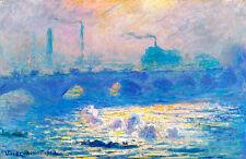 Waterloo Bridge by Claude Monet A1 High Quality Art Print