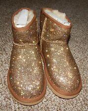 UGG Australia Classic Mini Gold Sparkle Women's Boots NEW Size 7 SALES SAMPLE