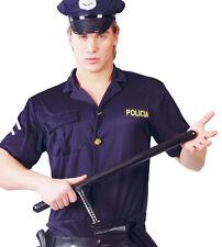Fancy Dress Large Police WPC Cop Truncheon Night Stick Black Riot Baton Costume