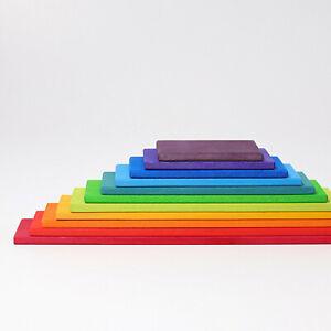 Grimms Bauplatten Regenbogen aus Holz 11 teilig 10668