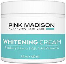 Pink Madison® Skin Lightening Cream with Kojic Acid Vitamin C Hyaluronic Acid.