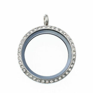 30mm stainless steel Living Memory Glass Locket Pendant fit Floating Charms